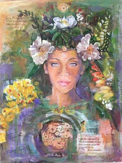 Transformational Painted Collage Portraits for Creative Self Discovery and Stress Release with Laura Bohn